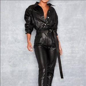 Vegan Leather jumpsuit *BRAND NEW*